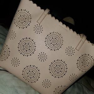 Soft pink tote